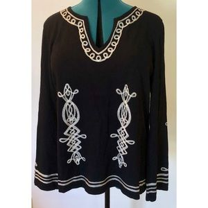 INC Embroidered Sweater